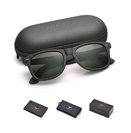 5b244ece0 Mens Polarized Sunglasses for Womens UV 400 Protection Grey Green Lens  Matte Black Frame 54MM