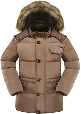 bc93a01acec8 Beinia Valuker Men s Down Coat with Fur Hood with 90% Down Parka ...