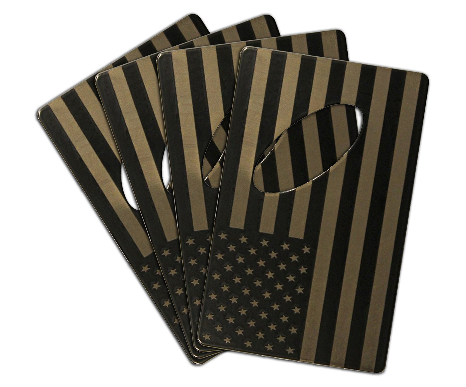 American Flag Bottle Opener Made From Credit Card Size Laser Etched Steel (4)