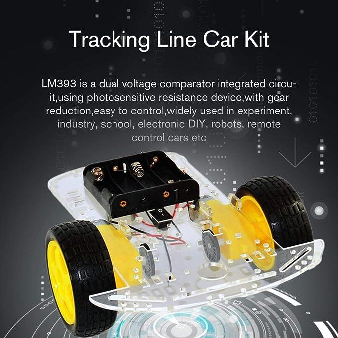 Jasnyfall inteligente Tracking-Linie seguidores Sensor Roboter Auto módulo DIY Kit azul amarillo: Amazon.es: Bricolaje y herramientas