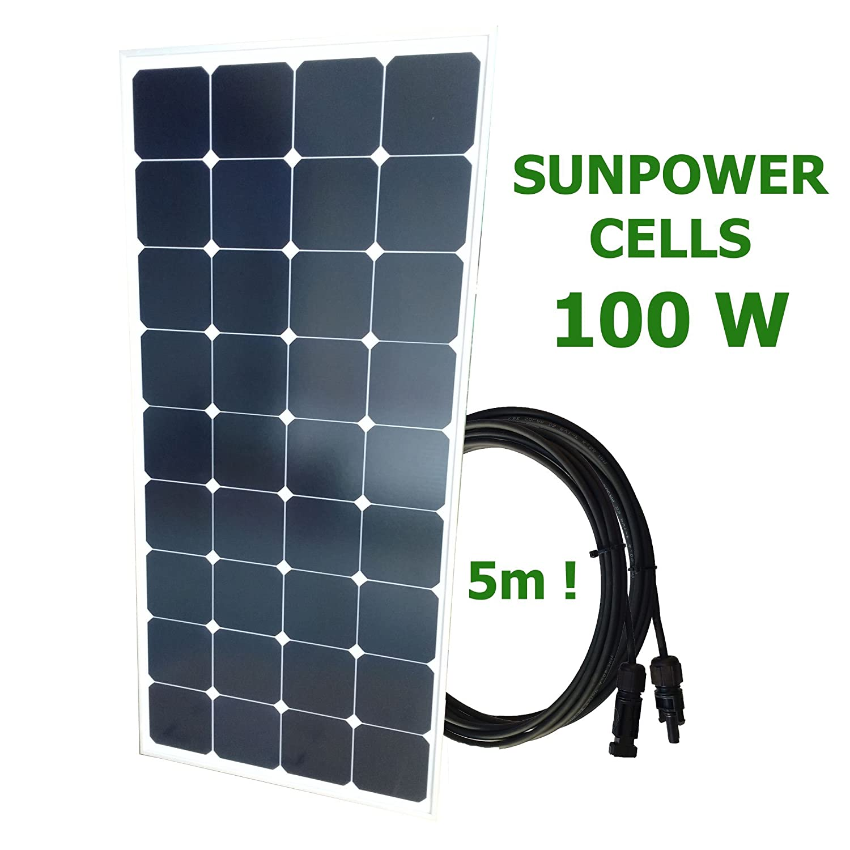 100W 12V SUNPOWER Solaranlage PRO Solarmodul