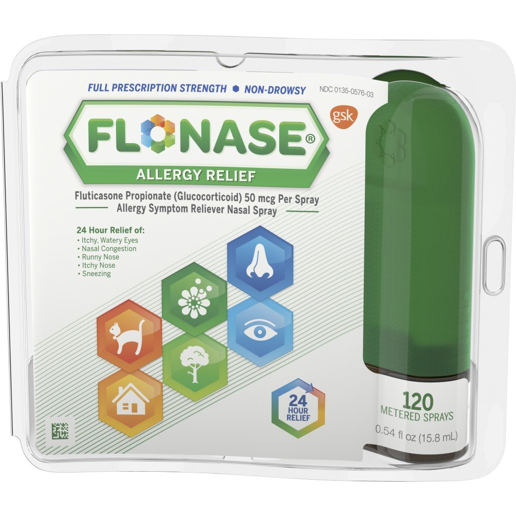 Flonase 24hr Allergy Relief Nasal Spray, Full Prescription Strength, 120 sprays 20020