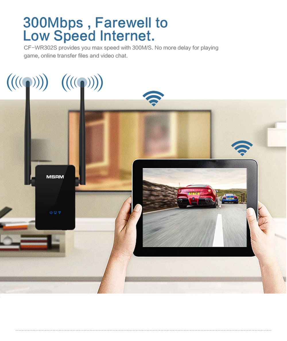 MSRM US302 300Mbps Wifi Range Extender 360 Degree WiFi Covering with Dual Antennas by MSRMUS (Image #4)