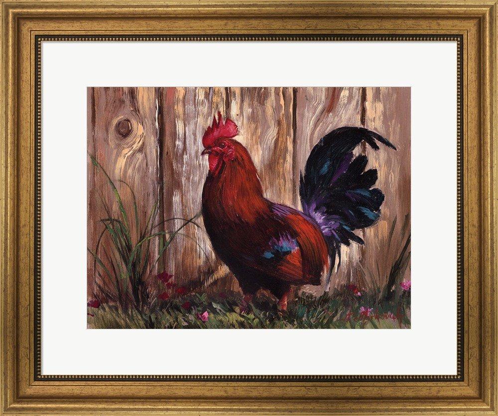 Amazon.com: Bantie Rooster by Nenad Mirkovich Framed Art Print Wall ...