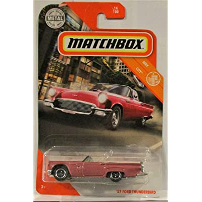 '57 Ford Thunderbird Pink CAR MB MBX City 14/100 MB DIECAST CAR: Toys & Games