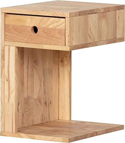 South Shore Furniture Sweedi Solid 1-Drawer Nightstand-Natural Wood
