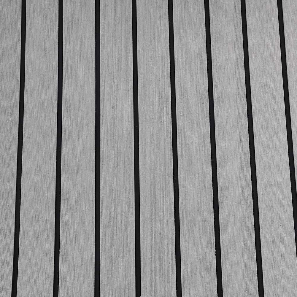 jard/ín terraza Marina Piscina imitaci/ón de Teca RV yate teka sint/ética Barco yate Alfombrilla para Piso de Barco Espuma EVA 94 x 35,4 x 0,24 Pulgadas Caf/é Oscuro Barco