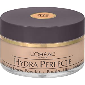 L'Oreal Paris Hydra Perfecte Perfecting Loose Face Powder, Minimizes Pores & Perfects Skin, Sets Makeup, Long-lasting & Lightweight, with Moisturizers to Nourish & Protect Skin, Medium, 0.5 fl. oz.