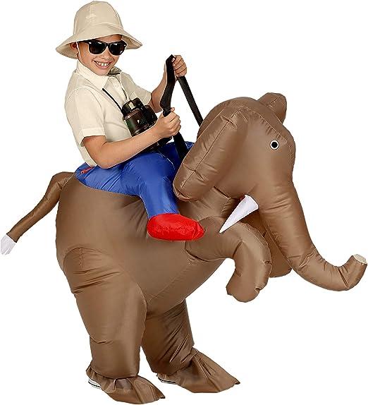 WIDMANN Srl - Disfraz de explorador sobre elefante hinchable para ...