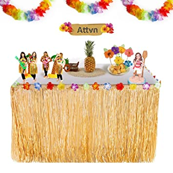 Attvn 96ft Hawaii Luau Tischrock Party Deko Hawaiian Tropical