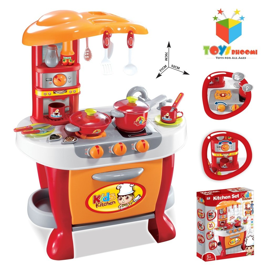Buy Toys Bhoomi Interactive Little Chef Kids Kitchen Play Set with ...