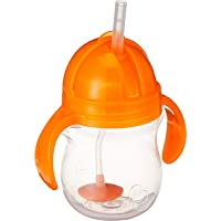 Munchkin Click Lock Weighted Flexi-Straw Cup, Orange, 7oz