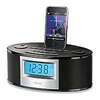 HoMedics SS-6510BLK SoundSpa Fusion Clock Radio with iPhone / iPod Docking Station (