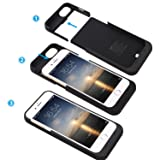 iPhone 7 Battery Case, iPhone 7 Charger Case, SAVFY Portable Charger Charging Case [Black] 3200mAh Extended Battery Pack Power Cases Juice Bank Cover for iPhone 7/6/6S