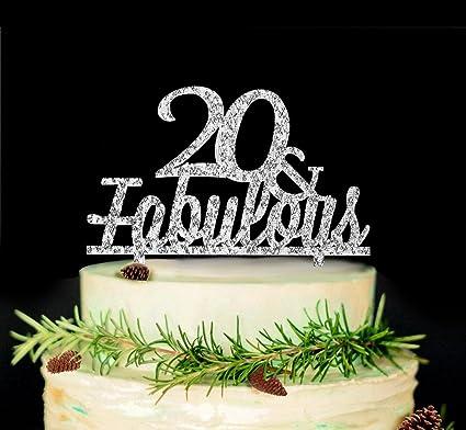 Amazon 20 Fabulous Cake Topper 20th Birthday Wedding