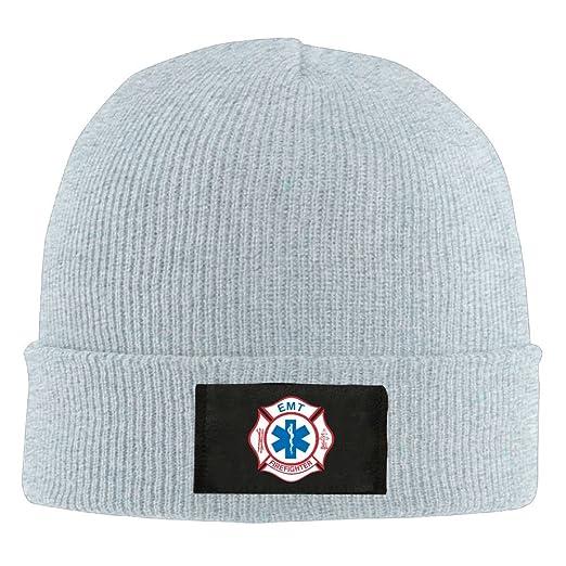 EMT Firefighter Maltese Cross - Adult Knit Cap Beanies Hat Winter Warm Cap 77e19684901