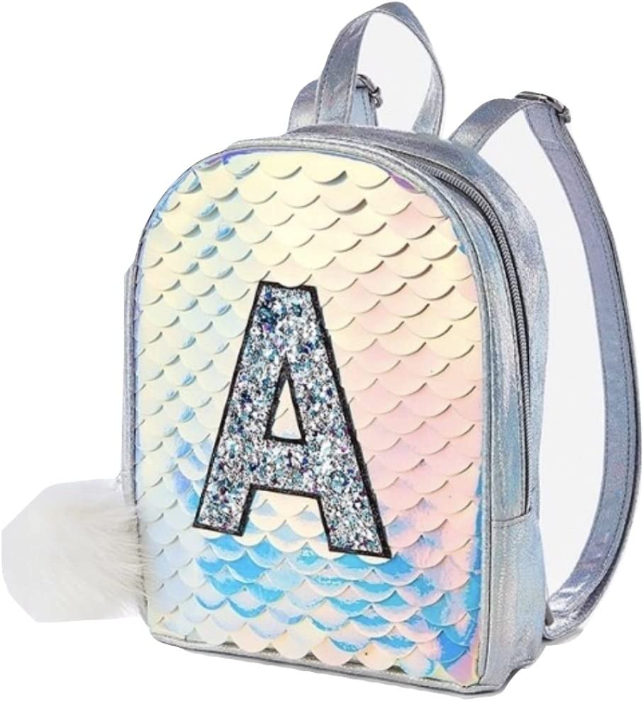 Justice Initial Mermaid Scale Mini Backpack H