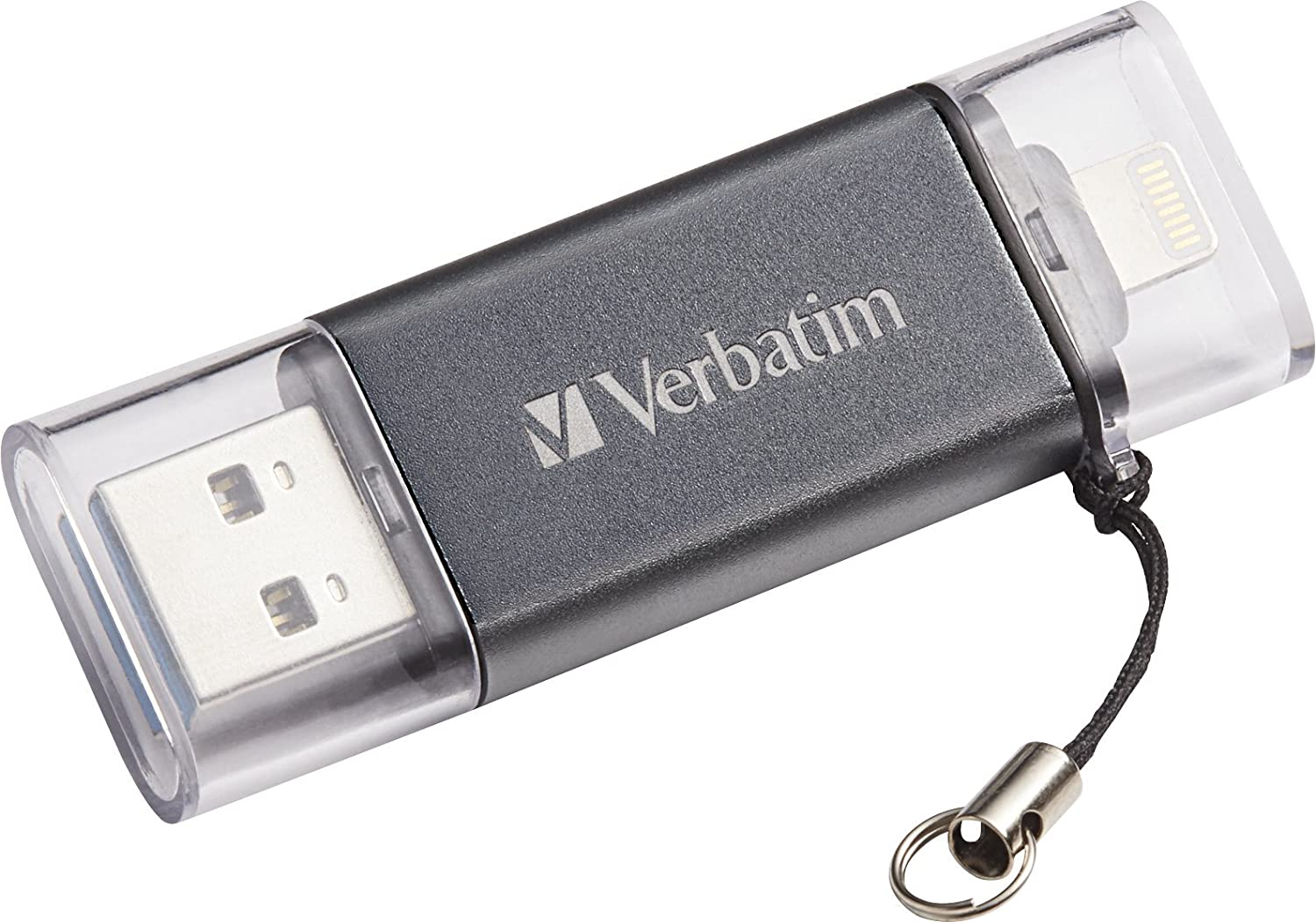 Verbatim 64GB iStore 'n' Go Dual USB 3.0 Flash Drive for Apple Lightning Devices, Graphite 49301 VERBATIM CORPORATION