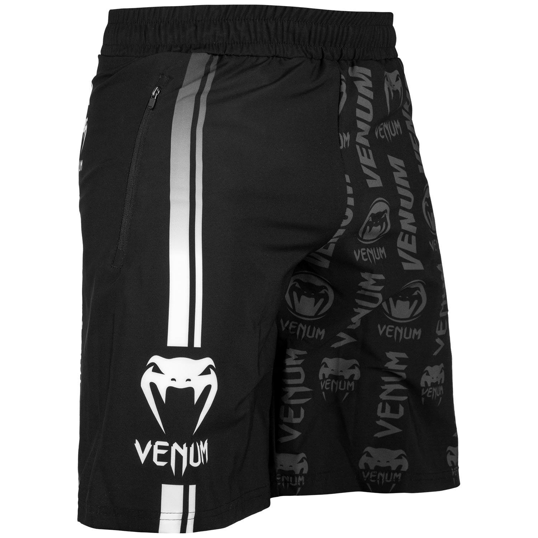 VENUM[ヴェヌム] フィットネスショーツ Logos ロゴス(黒/白) B079FVG9L9  Large