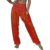 LOFBAZ Harembyxor för kvinnor Yoga Boho Hippiekläder Dam Palazzo Bohemian Pyjama Beach Indian Gypsy Genie Kläder Påfågel…