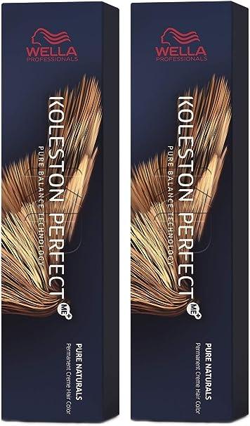Wella Pack de 2 Koleston Perfect Me+ KP Pure Naturals 8/0 rubio claro