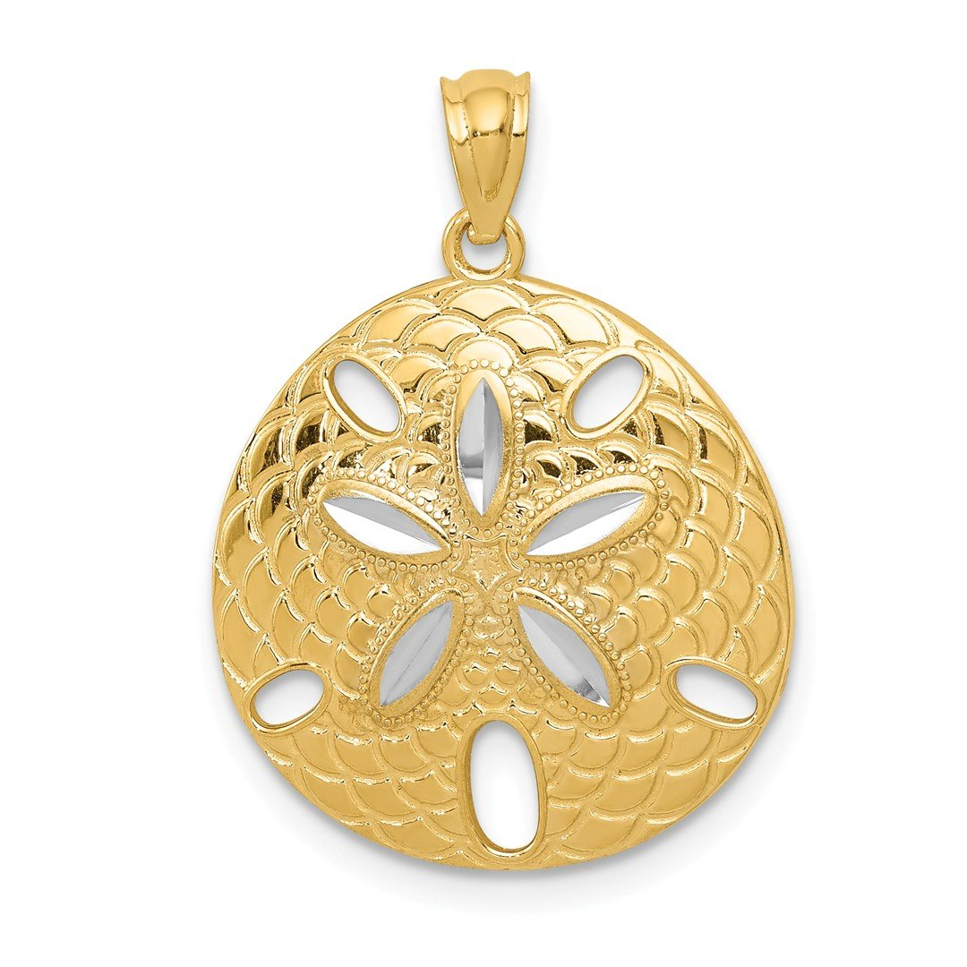 ICE CARATS 14kt Yellow Gold Sand Dollar Sea Star Starfish Pendant Charm Necklace Shore Shell Fine Jewelry Ideal Gifts For Women Gift Set From Heart IceCarats 2277255749835222436