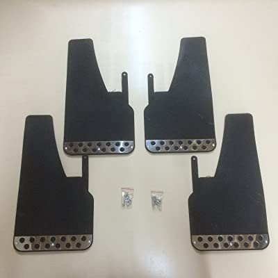 RALLY MUDFLAPS BLACK X 4 UNIVERSAL FIT MUDFLAPS: Automotive