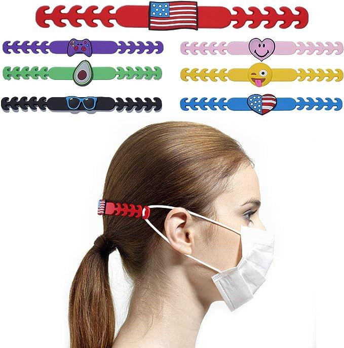 5PCS Face Mask Ear Saver Strap Hook Extender Emoji Holder Adjustable Buckle