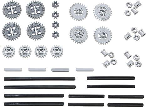 Mindstorms, EV3, NXT Robots! LEGO 46pc Technic gear /& axle SET #4 Includes RARE CROWN GEARS
