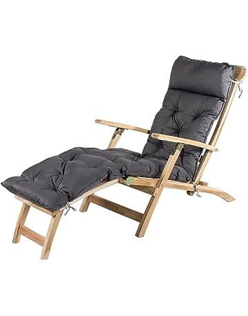 Hochwertig Meerweh Deckchair Liege, Ca. 195 X 49 X 10 Cm, Polsterauflage, Kissen