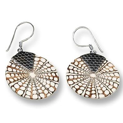 Island Piercings 925er Silver and Sea Shell Earrings SER043 rHJzY