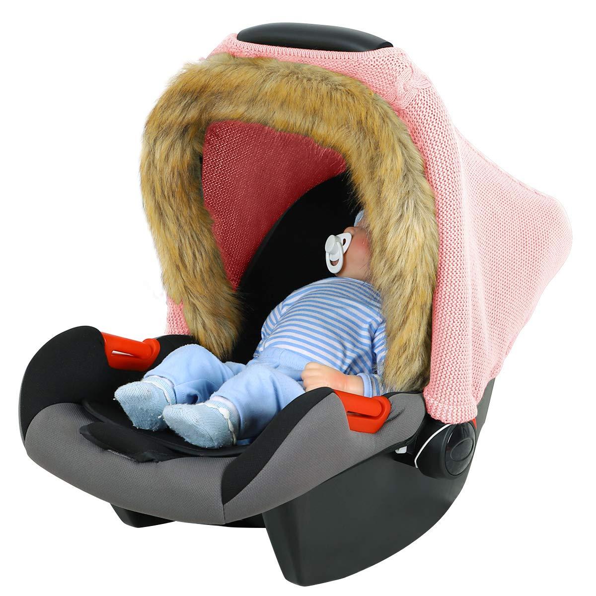 YINUODAY Baby Stilldecke Gestrickt Dehnbar Atmungsaktiv Baby Autositz Baldachin Kinderwagen Abdeckung Stillh/ülle Babyparty Geschenk f/ür Jungen M/ädchen