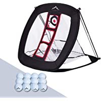 Himal Pop Up Indoor Outdoor Collapsible Golf Chipping Net w/12 Golf Balls