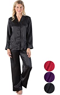 593d22e33 Addison Meadow Womens Satin Pajamas - Pajama Set for Women with Button Front