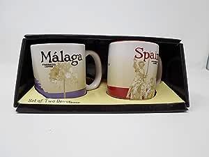 Starbucks - Juego de 2 Tazas de café (diseño de Málaga y España ...