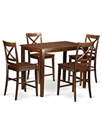 Superior East West Furniture YAQU5 MAH W 5 Piece Small Kitchen Table And 4 Counter Nice Look
