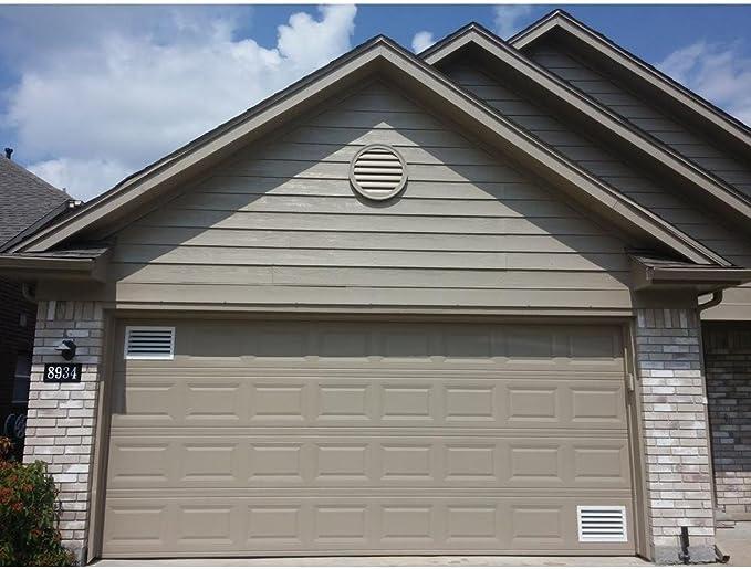 Puerta de garaje de Aluminio rejilla de ventilación registro – con amortiguador palanca de control para invierno y verano ajustes – con mosquitera evitar Guardia [exterior dimensiones: 17,5