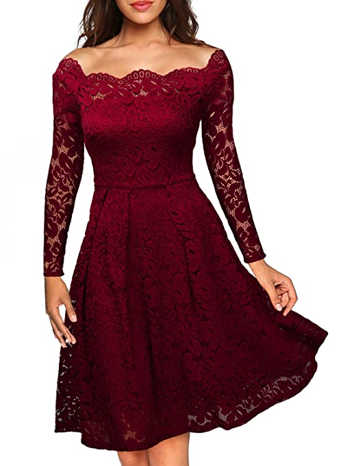 68 opinioni per MIUSOL Estivi Vintage Donna Vestito Pizzo Elegante Cerimonia Manica Corta