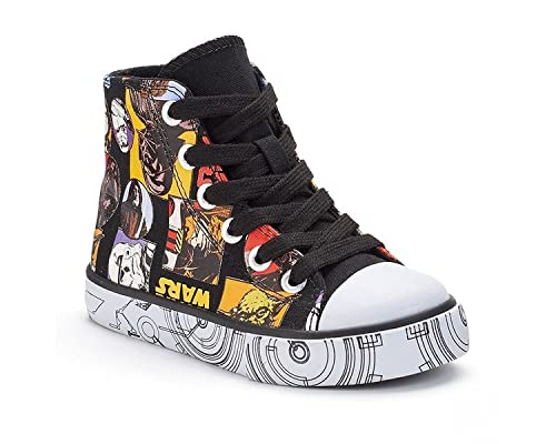 7fd88645e1 Disney Star Wars Boys High-Top Canvas Sneakers (Toddler Little Kid ...