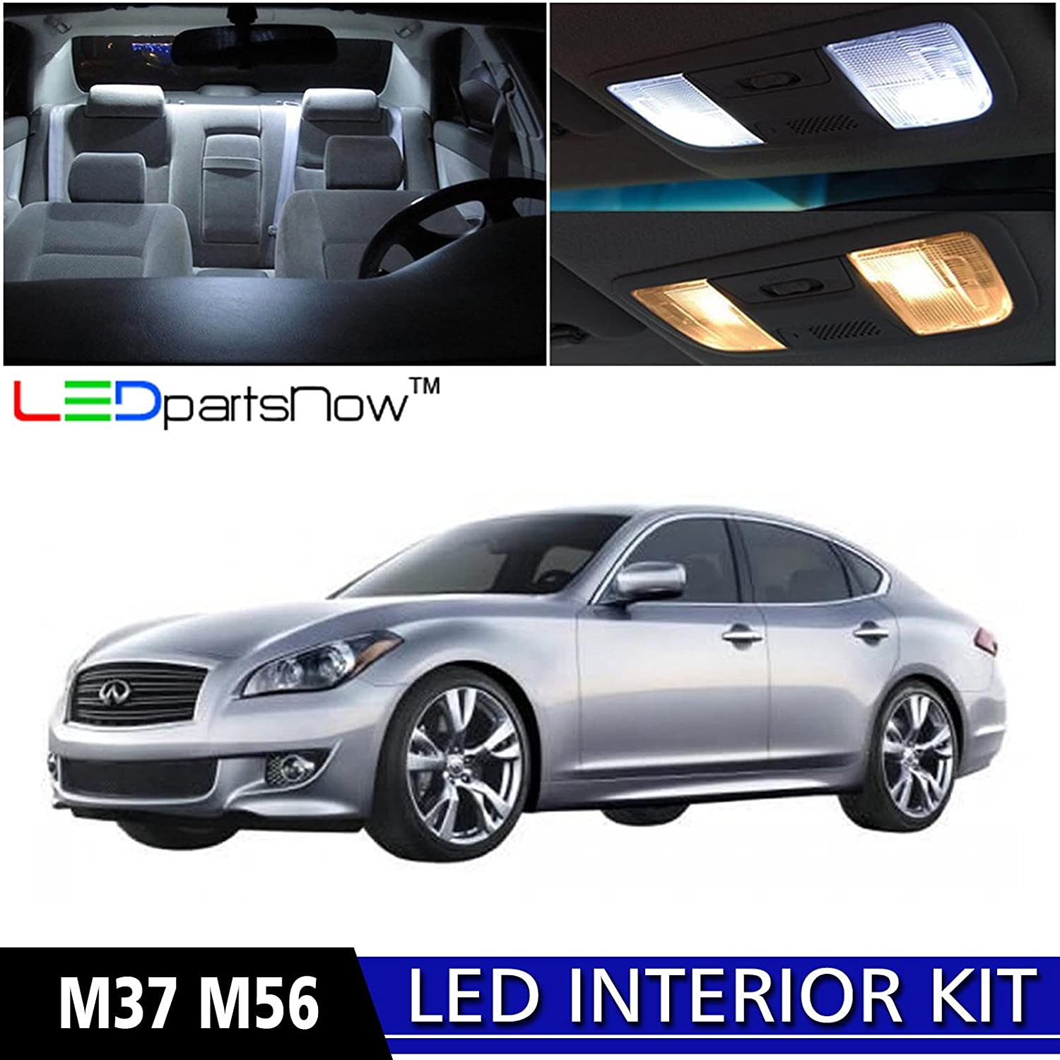 Amazon ledpartsnow 2011 2017 infiniti m37 m56 led interior amazon ledpartsnow 2011 2017 infiniti m37 m56 led interior lights accessories replacement package kit 10 pieces white automotive vanachro Gallery