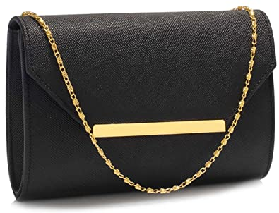 5ab9596563 Ladies Large Envelope Clutch Bag Womens Handbag Purse Faux Leather Designer  New Flap With Shoulder Chain