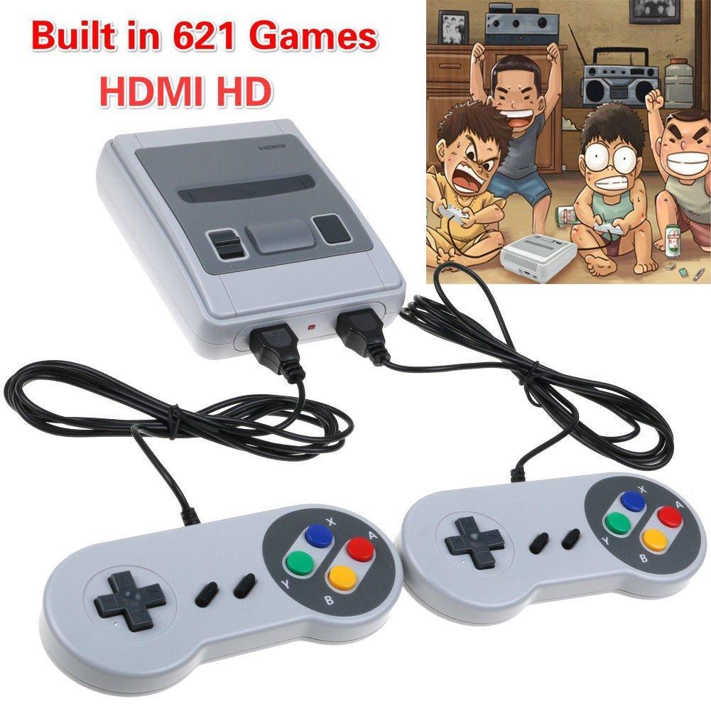Retro Mini Klassische Konsole Wireless Controller-mit 600 Spiele Hdmi Videospiele Av Interface Unterstützt Verschiedene Tvs Portable Spielkonsolen