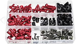 177pcs Motorcycle Full Fairing Bolt Kit Nuts Screws Clips Complete Set for Honda for Yamaha for Kawasaki for Suzuki Multi-color