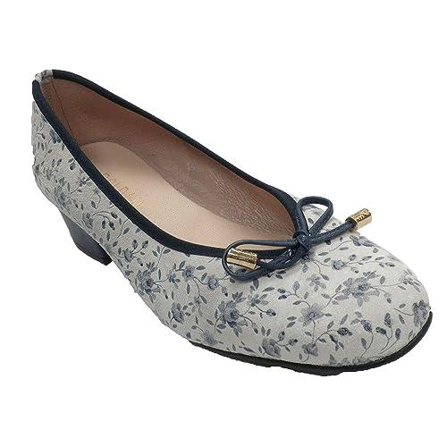 be13431db Zapatos Mujer Tipo Manoletinas Estampado Flores Roldán en beig  Amazon.es   Zapatos y complementos
