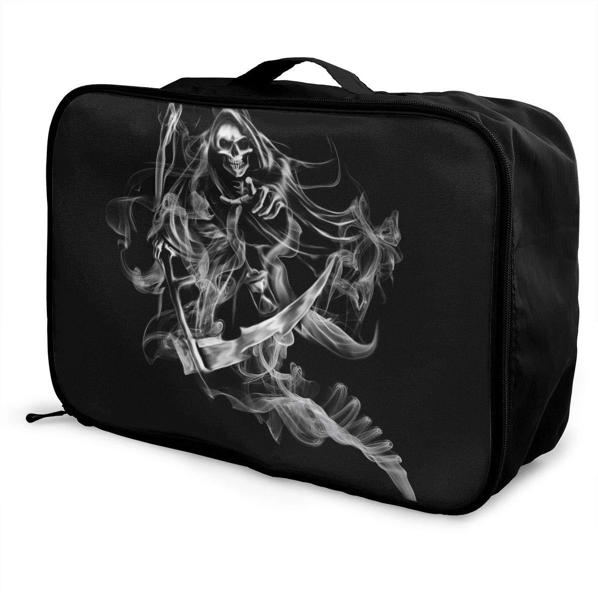 Travel Luggage Duffle Bag Lightweight Portable Handbag Art Skull Large Capacity Waterproof Foldable Storage Tote
