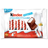 Kinder Chocolate Single Bars, 6 Count Individually Wrapped Milk Chocolate Bars, Perfect Easter Basket Stuffers for Kids…