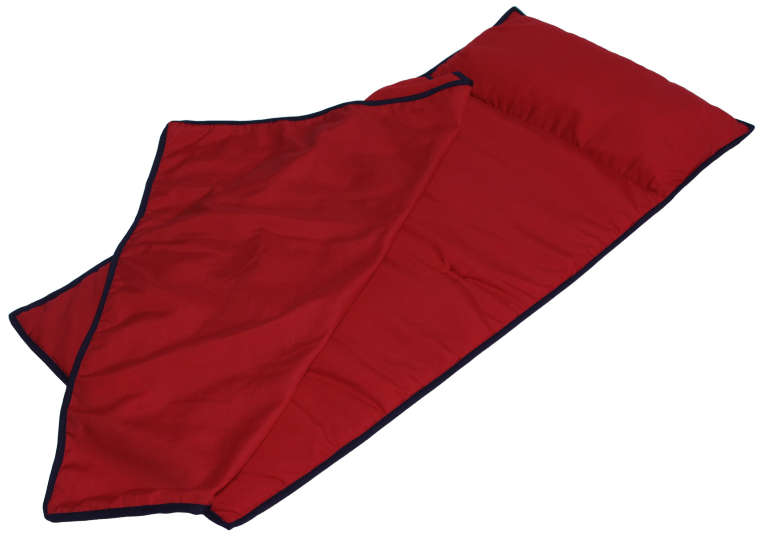 Baby Doll Bedding Nap Pad, Red/Navy