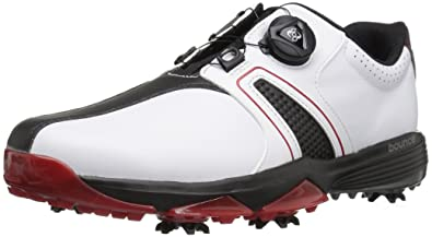 new arrival b6816 8a2ac adidas Men s 360 Traxion BOA Golf Shoe, FOOTWEAR WHITE CORE BLACK SCARLET,