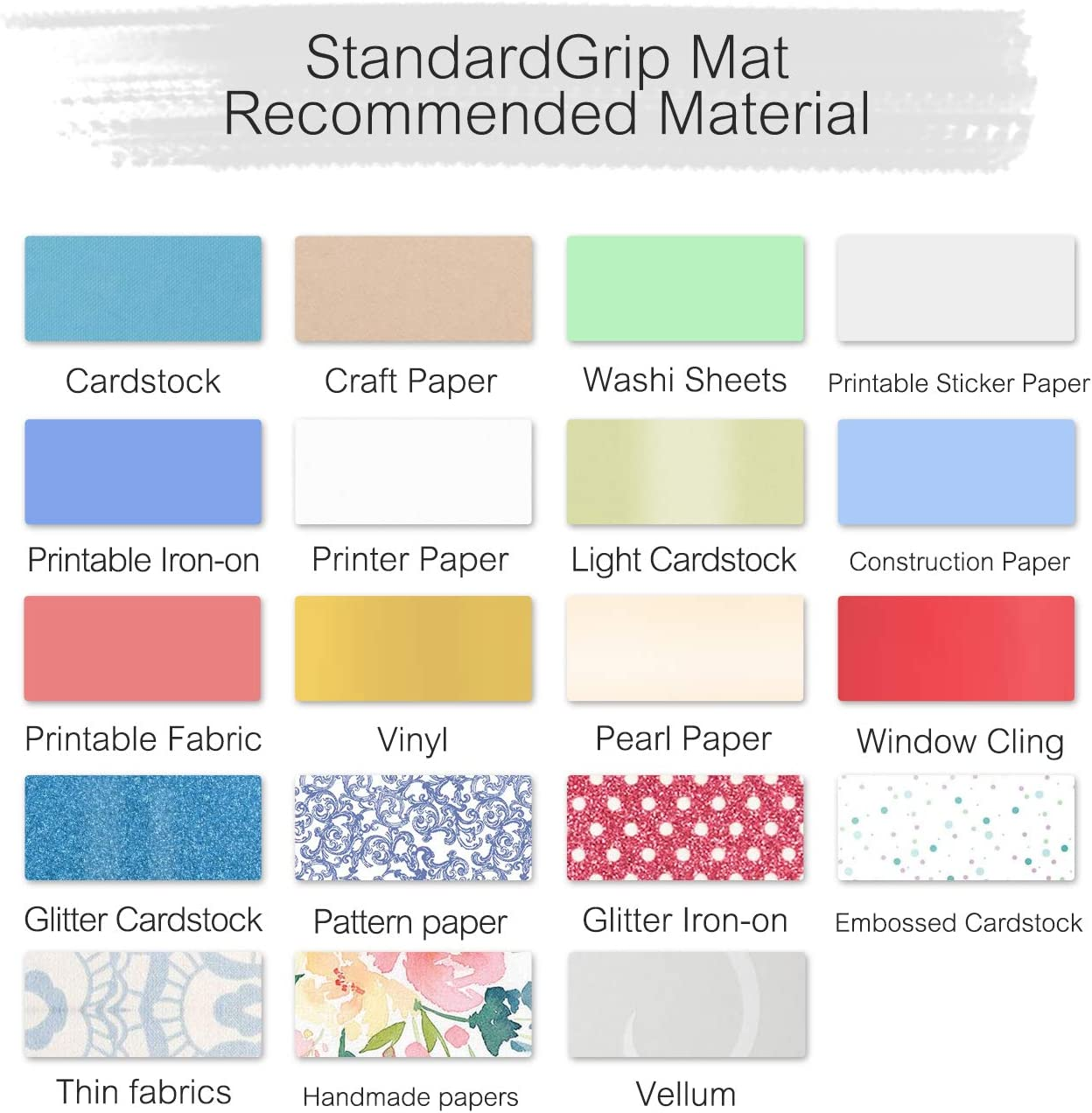 Perfect for Silhouette Cameo 4//3//2//1-Durable Non-Slip Flexible Square Gridded Cut Mat Green Cutting Mats for Crafts Cutdoing Cameo Cutting Mat 12x12 3-Piece, Stronggrip