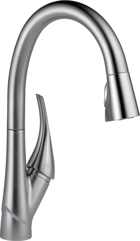 Best touch kitchen faucets: Delta Faucet Esque 9181T-AR-DST